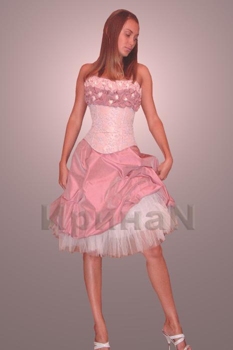 Свадебное платье с французским кружевом